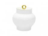 Lomonosov Imperial Porcelaine Sugar Bowl Wave Golden Edge 13.9 oz/390 ml