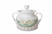 Lomonosov Imperial Porcelaine Sugar Bowl Banquet North Aurora 18.3 oz/540 ml