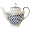 Lomonosov Porcelain Tea Pot Spring Cobalt Net 4 Cups 27 oz/800 ml