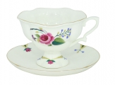 Lomonosov Imperial Bone Cnina Tea Set Cup and Saucer Natasha Bride 2pc