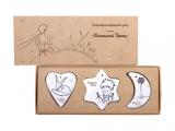Little Prince Lomonosov Porcelain 3 pc Nice Souvenirs in Gift Box