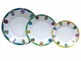 Easter Porcelain Salad and Dessert Plates Set 3 pc Emerald