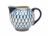 Lomonosov Porcelain Creamer Milk Jar Tulip Cobalt Net 7 fl.oz/205 ml