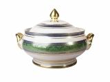 Porcelain Soup Bowl Tureen Alexandria Golden 52 101.4 oz/3000 ml