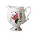 Porcelain Bone China Creamer Natasha Golden Ribbon 10.8 fl.oz/320 ml