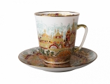 Bone China Cup and Saucer May Golden Spring 5.6 fl.oz/165 ml