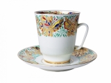 Bone China Cup and Saucer May Colorful Butterflies 5.6 fl.oz/165 ml