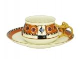 Lomonosov Porcelain Tea Cup Set 2 pc Bilibina Vasilisa Fairytale 6 oz/180 ml