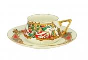Lomonosov Porcelain Tea Cup Set 2 pc Bilibina Magic Birds 6 oz/180 ml
