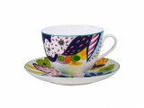 Lomonosov Bone China Porcelain Spring-2 Tea Set 2 pc Bouquet for Julia