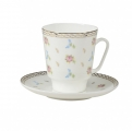 Lomonosov Bone China Cup and Saucer May Flower Waltz 5.6 fl.oz/165 ml 2 pc