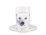 Lomonosov Porcelain Mug and Saucer Totem POLAR BEAR