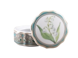 Lomonosov Porcelain Treasure Jewellery Round Box Lily of the Valley