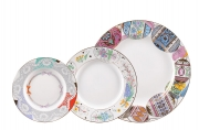 Lomonosov Porcelain Dinner Plate Set Easter 3 pieces