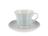 Lomonosov Porcelain Tea Set Cup and Saucer Banquet Dublin 7.4 oz/220 ml
