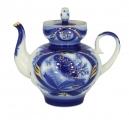 Lomonosov Imperial Porcelain Teapot Bud Goldfinch 3 Cup 20 oz/600 ml