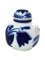 Lomonosov Imperial Porcelaine Tea Holder Box Ring Blue Bell