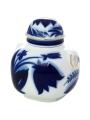 Lomonosov Imperial Porcelaine Tea Holder Box Ring Blue Bell