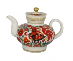 Lomonosov Imperial Porcelain Folk Motive 1 cup Tea Pot