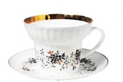 Imperial Porcelain Porcelain Bone China Wave Tea Set Cup and Saucer Tiny Branches