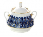 Lomonosov Imperial Porcelaine Sugar Bowl Forget Me Not 10 oz/300 ml