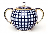 Sugar Bowl 22 Karat Gold Cobalt Cell 15 fl.oz/450 ml