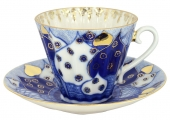 Lomonosov Porcelain Cup and Saucer Radiant Church Bells 7.95 oz/235 ml