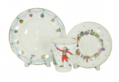 Lomonosov Imperial Porcelain Bone China Cup and Saucer May Ballet Nutcracker 5.6 fl.oz/165 ml 3 pc