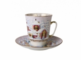 Bone China Cup and Saucer May Winter Day 5.6 fl.oz/165 ml