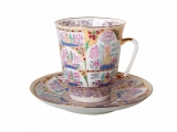 Bone China Cup and Saucer May Gentle Landscape 5.6 fl.oz/165 ml