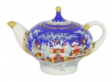 Lomonosov Imperial Porcelain Teapot Winter Fairy Tale 8.5 oz/250 ml