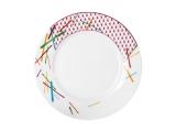 """Lomonosov Porcelain Dinner Flat Plate Game 10.4""""/265 mm"""