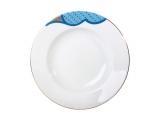 "Lomonosov Porcelain Soup Plate European Motive 8.9""/225 mm"