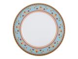 """Lomonosov Porcelain Dinner Plate European-2 Turquoise 10.6""""/270 mm"""