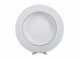 """Lomonosov Porcelain Dinner Soup Plate European-2 Golden Omega Net 8.9""""/225 mm"""