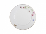 "Lomonosov Porcelain Dinner Plate Flowering Sweet Pea 10.6""/270 mm"