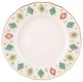 "Lomonosov Imperial Porcelain Cake Dessert Plate Tulip Peacock's Feather 7""/180 mm"