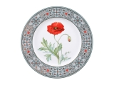"Lomonosov Porcelain Decorative Plate Poppy 10.6""/270 mm"