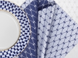 "Lomonosov Gift Set 6 Napkins Cobalt Net 17.7""x17.7"" Blue-Gray"